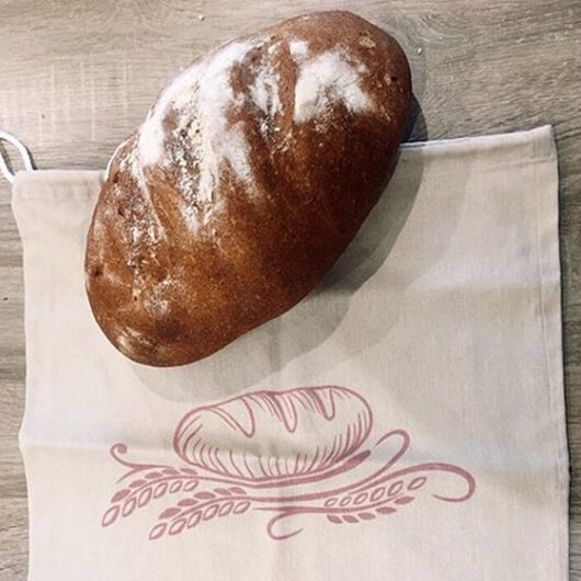 Tartsuk frissen a pékárut lenvászon kenyérzsák segítségével!